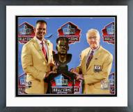 Buffalo Bills Andre Reed & Marv Levy 2014 NFL HOF Induction Ceremony Framed Photo