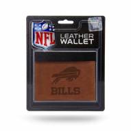 Buffalo Bills Brown Leather Trifold Wallet