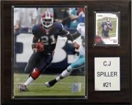 """Buffalo Bills C. J. Spiller 12 x 15"""" Player Plaque"""