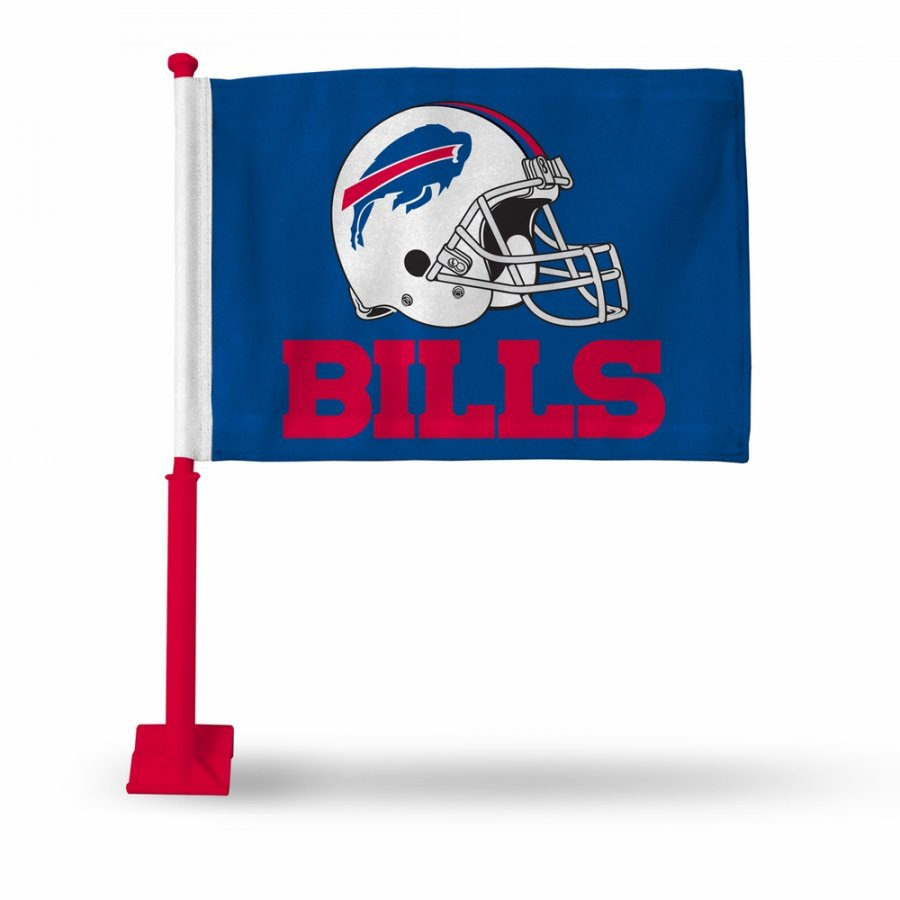 Buffalo Bills Car Flag with Red Pole