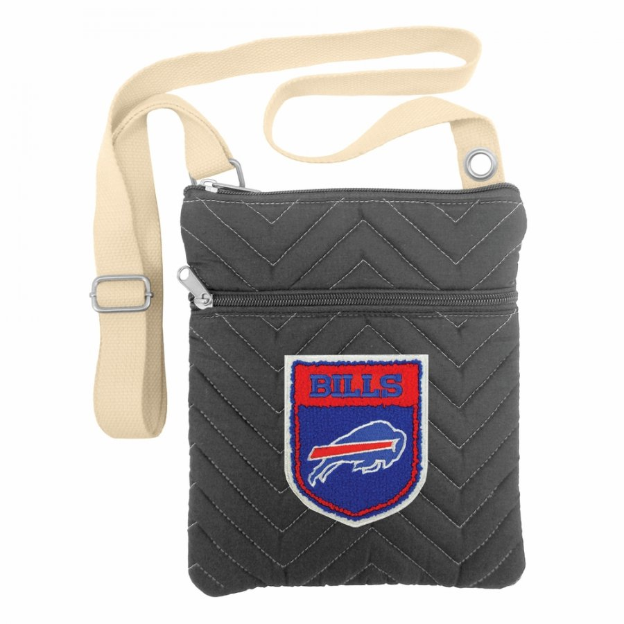 Buffalo Bills Crest Chevron Crossbody Bag