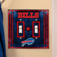 Buffalo Bills Glass Double Switch Plate Cover