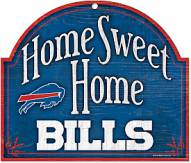 Buffalo Bills Home Sweet Home Arched Wood Sign