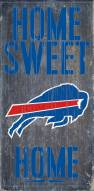 Buffalo Bills Home Sweet Home Wood Sign