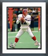 Buffalo Bills Jim Kelly Dropping Back Framed Photo