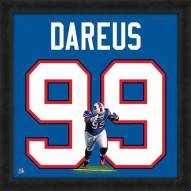 Buffalo Bills Marcell Dareus Uniframe Framed Jersey Photo