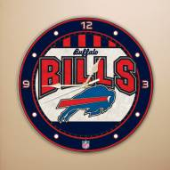 Buffalo Bills NFL Stained Glass Wall Clock