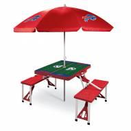 Buffalo Bills Red Picnic Table w/Umbrella