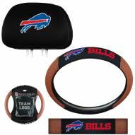 Buffalo Bills Steering Wheel & Headrest Cover Set