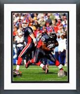 Buffalo Bills Trent Edwards & Marshawn Lynch 2008 Action Framed Photo