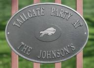 Buffalo Bills NFL Personalized Logo Plaque - Pewter Silver