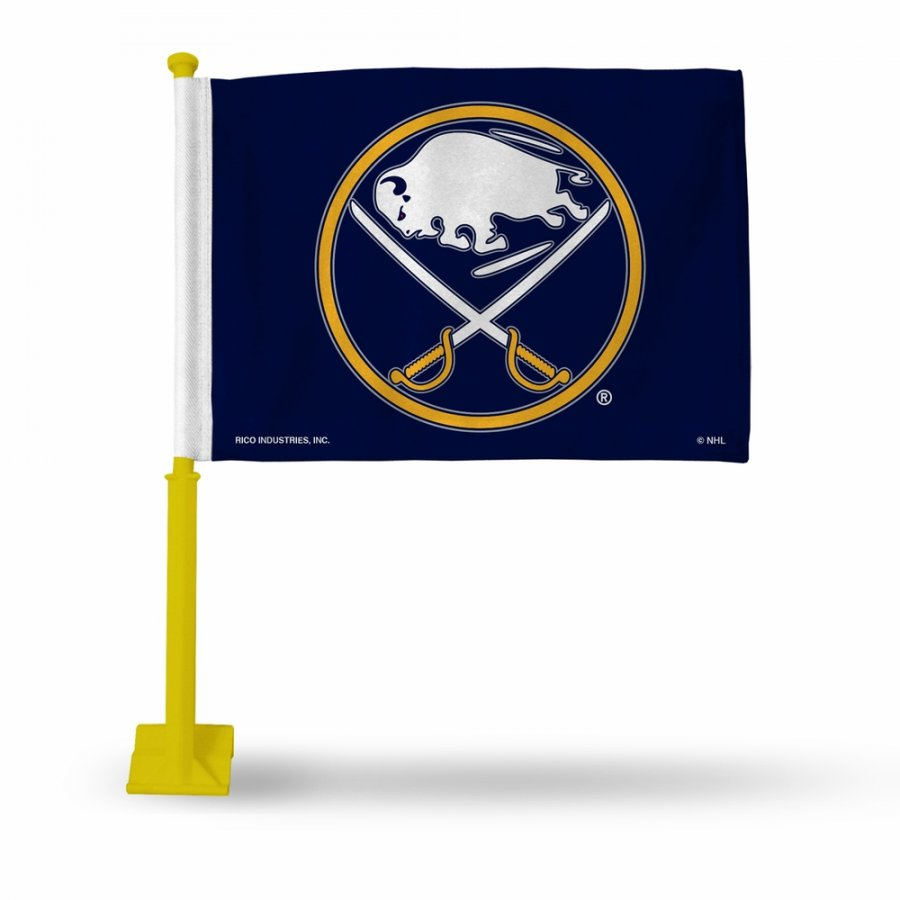 Buffalo Sabres Car Flag with Yellow Pole