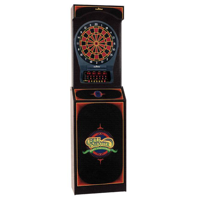Attractive The Arachnid Arcade Style Cabinet With Cricket Pro 650 Electronic Dart Board  Game Features A Professional Style Cabinet With A Bull Shooter Dart  Challenge ...