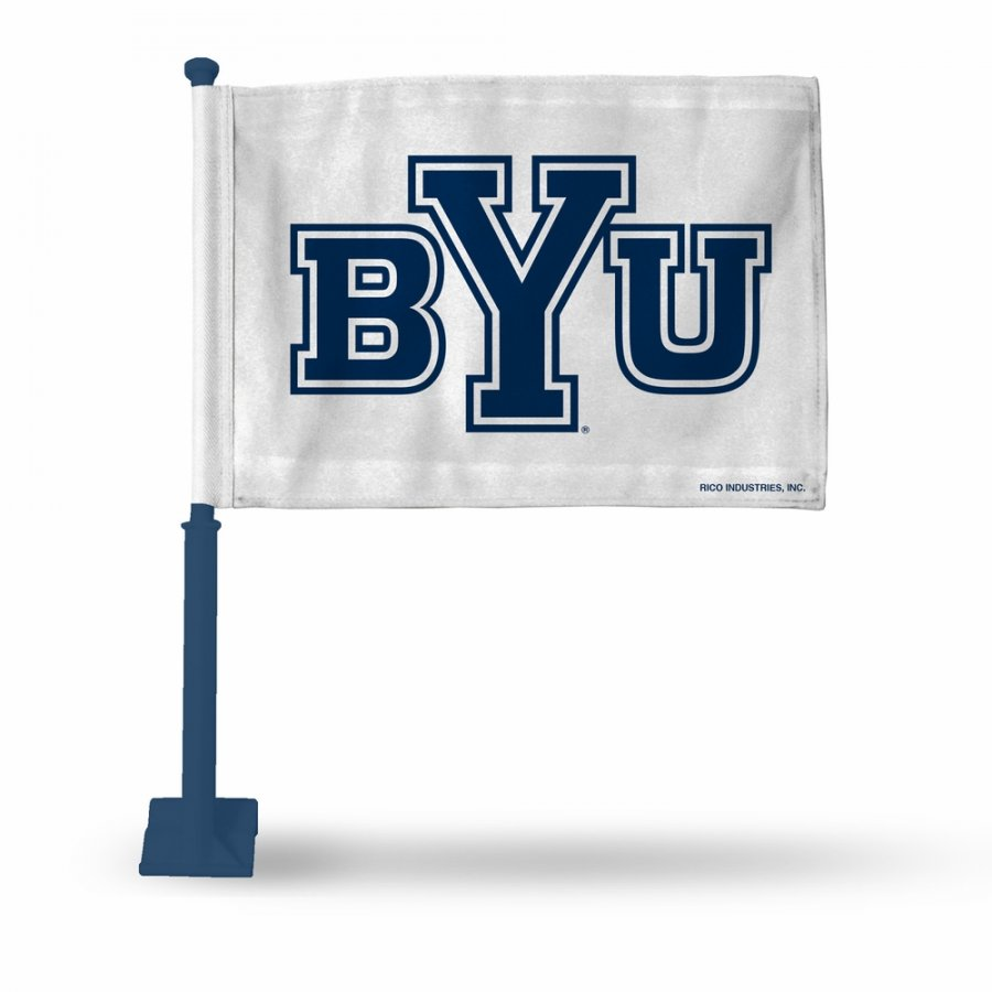 BYU Cougars Car Flag with Navy Pole
