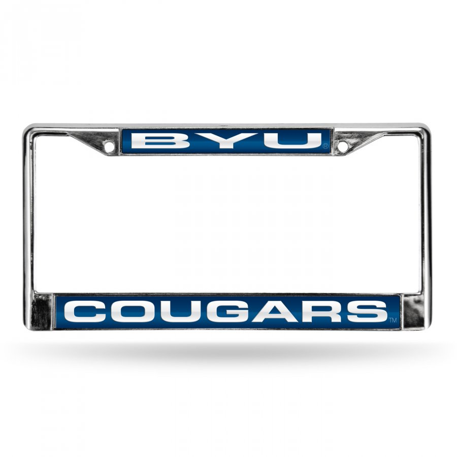 BYU Cougars College Laser Chrome License Plate Frame