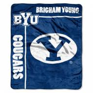 BYU Cougars Jersey Mesh Raschel Throw Blanket