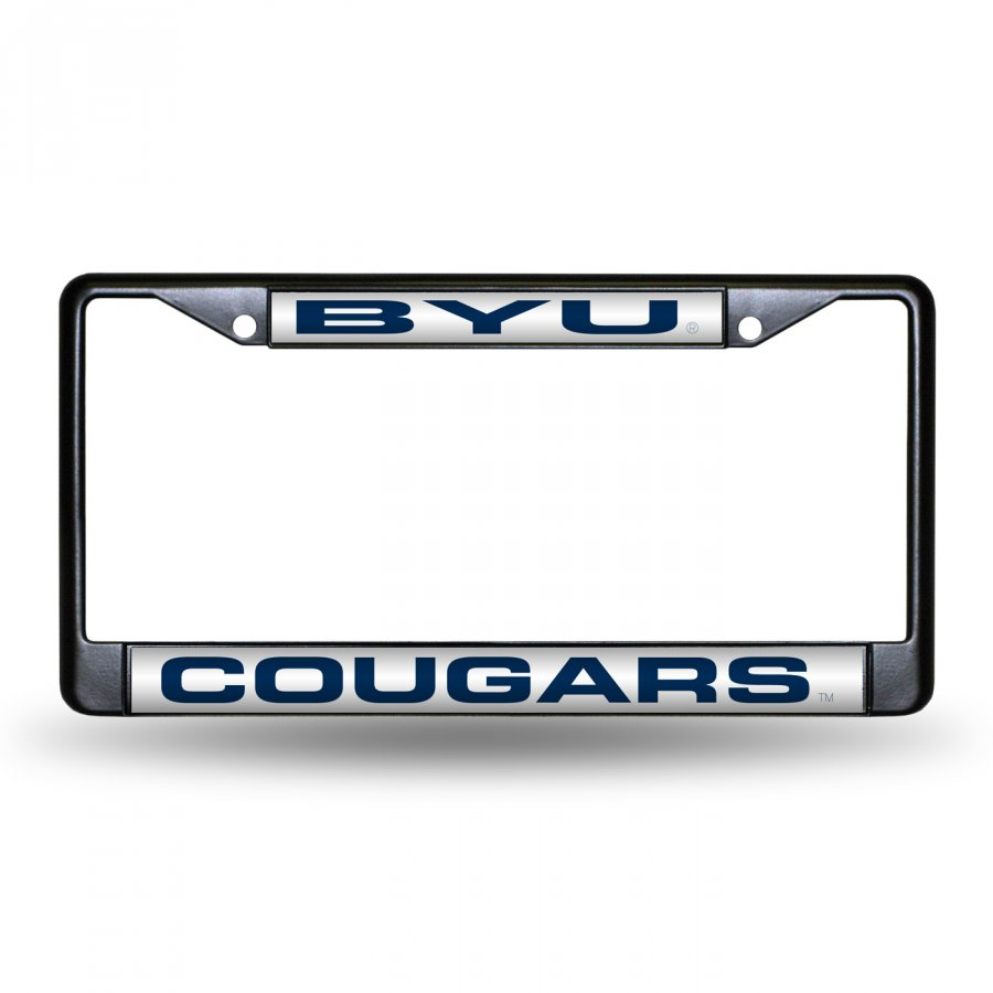 BYU Cougars Laser Black License Plate Frame
