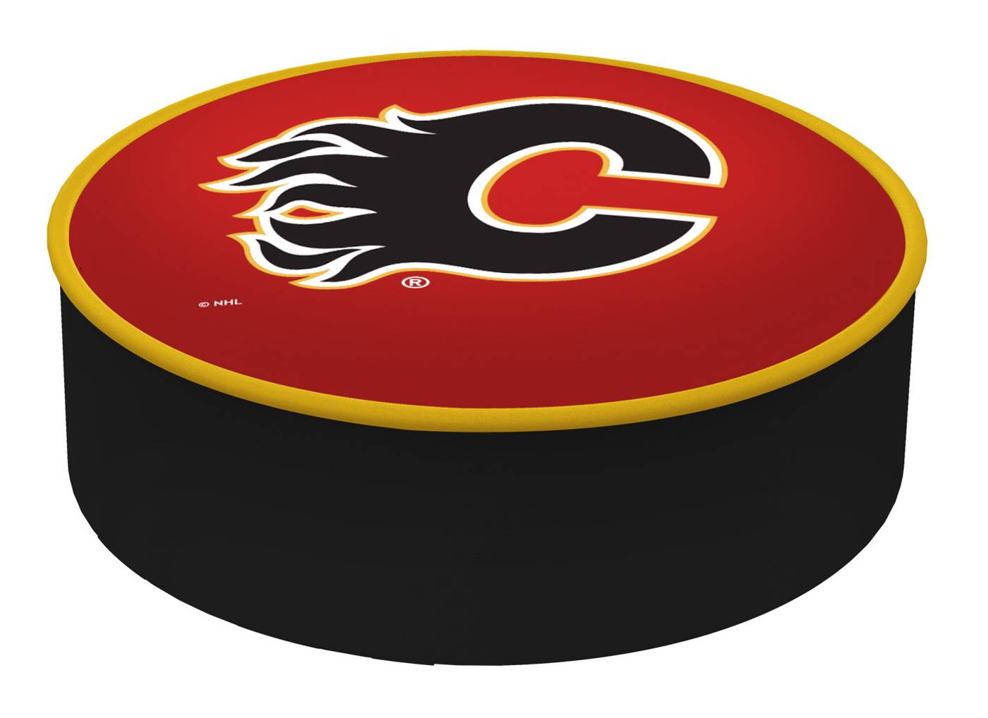 Calgary Flames Bar Stool Seat Cover
