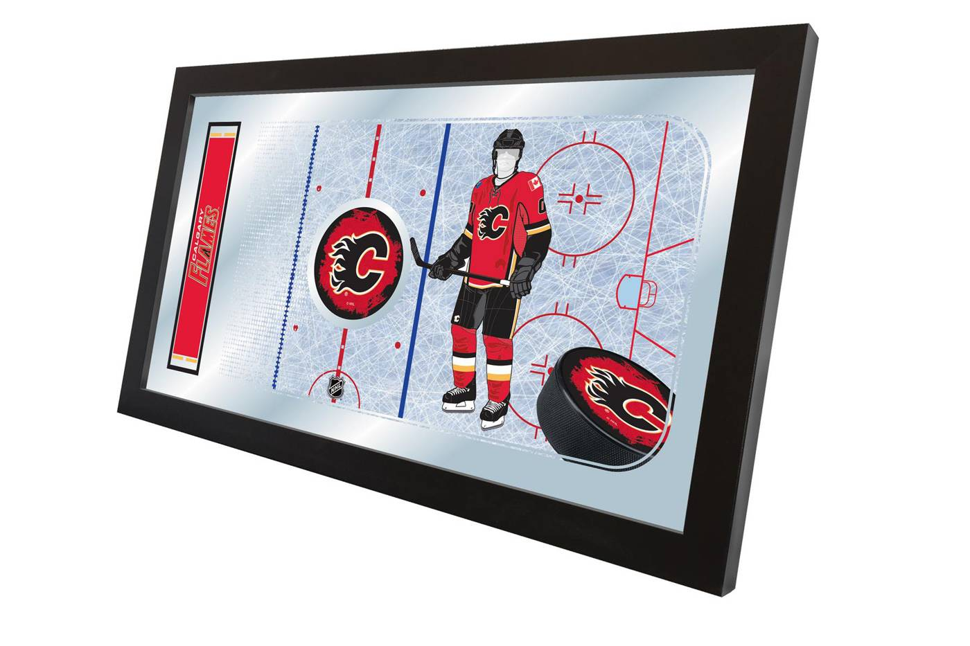 Calgary Flames Hockey Rink Mirror
