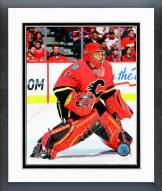Calgary Flames Jonas Hiller 2014-15 Action Framed Photo