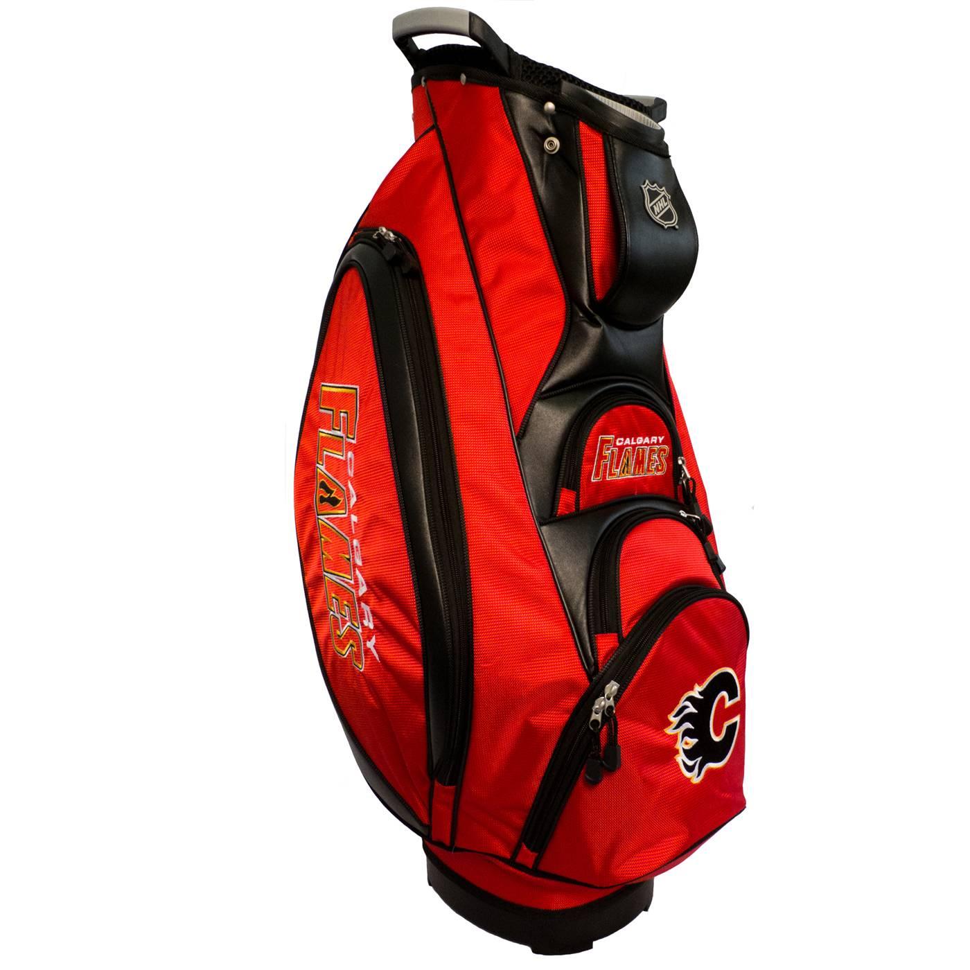 Calgary flames victory golf cart bag