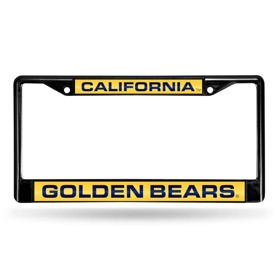 California Golden Bears Laser Black License Plate Frame
