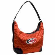 Carolina Hurricanes Quilted Hobo Handbag