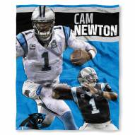 Carolina Panthers Cam Newton Silk Touch Blanket