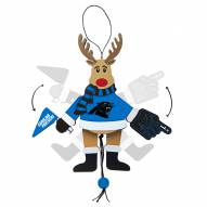 Carolina Panthers Cheering Reindeer Ornament