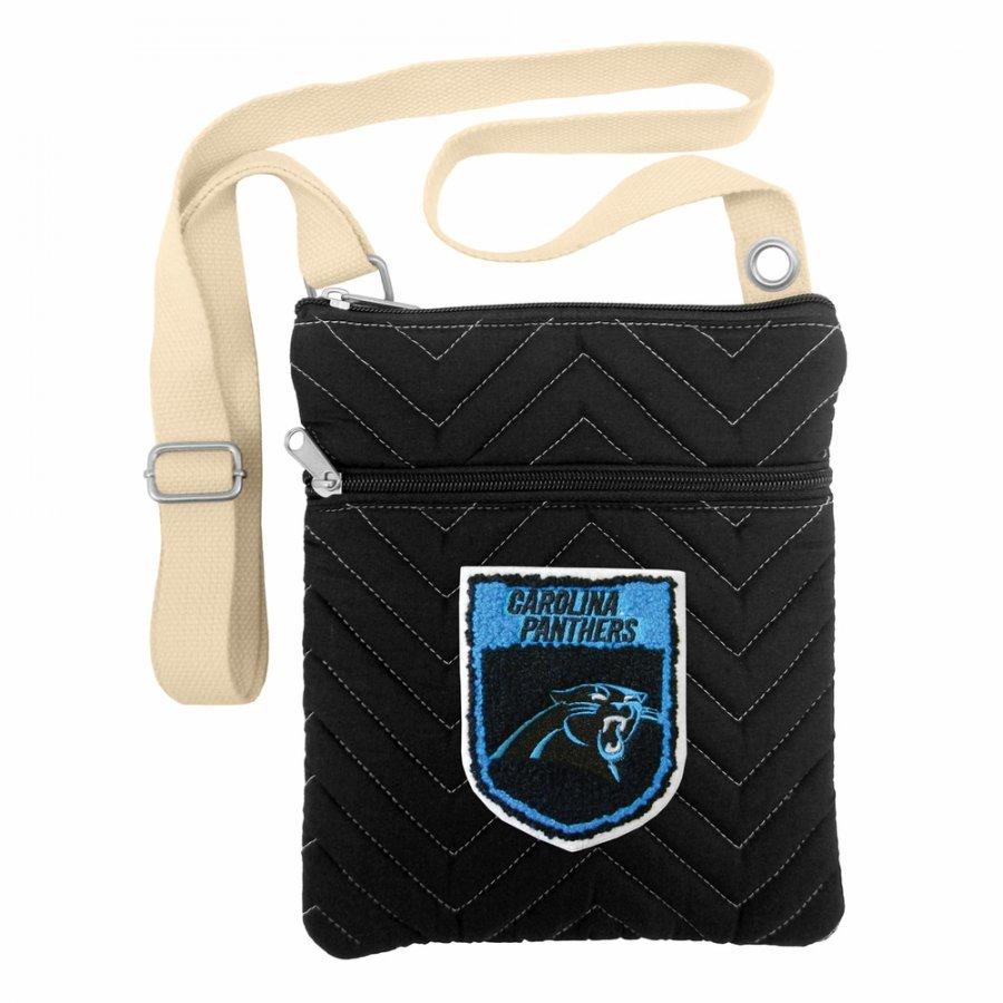Carolina Panthers Crest Chevron Crossbody Bag