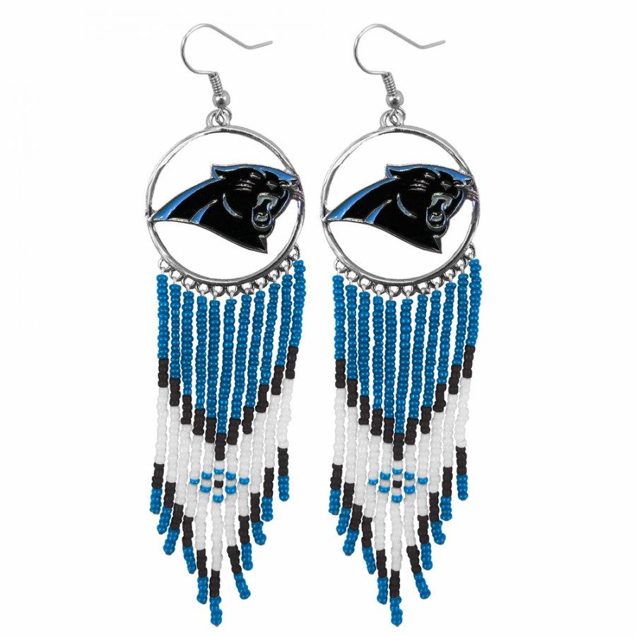 Carolina Panthers Dreamcatcher Earrings