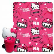 Carolina Panthers Hello Kitty Blanket & Pillow
