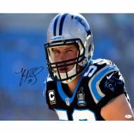 """Carolina Panthers Luke Kuechly 'Close Up' Signed 16"""" x 20"""" Photo"""