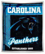Carolina Panthers Old School Mink Sherpa Throw Blanket