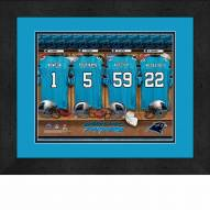 Carolina Panthers Personalized Locker Room 13 x 16 Framed Photograph
