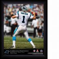Carolina Panthers Personalized NFL Action QB Framed Print