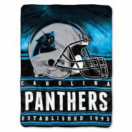 Carolina Panthers Silk Touch Stacked Blanket