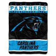 Carolina Panthers Sky Helmet Raschel Blanket