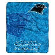 Carolina Panthers Strobe Sherpa Blanket