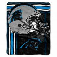 Carolina Panthers Touchback Raschel Throw Blanket