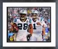Carolina Panthers Touchdown Celebration 2014 Playoff Action Framed Photo