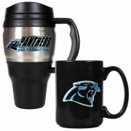 Carolina Panthers Travel Mug & Coffee Mug Set