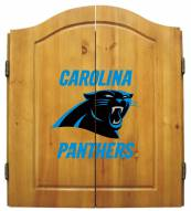 Carolina Panthers NFL Complete Dart Board Cabinet Set (w/darts & flights)