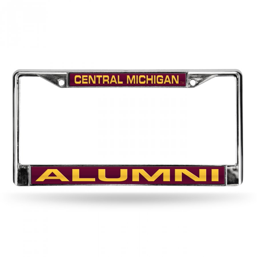Central Michigan Chippewas Chrome Alumni License Plate Frame