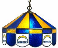 "San Diego Chargers NFL Team 16"" Diameter Stained Glass Pub Light"