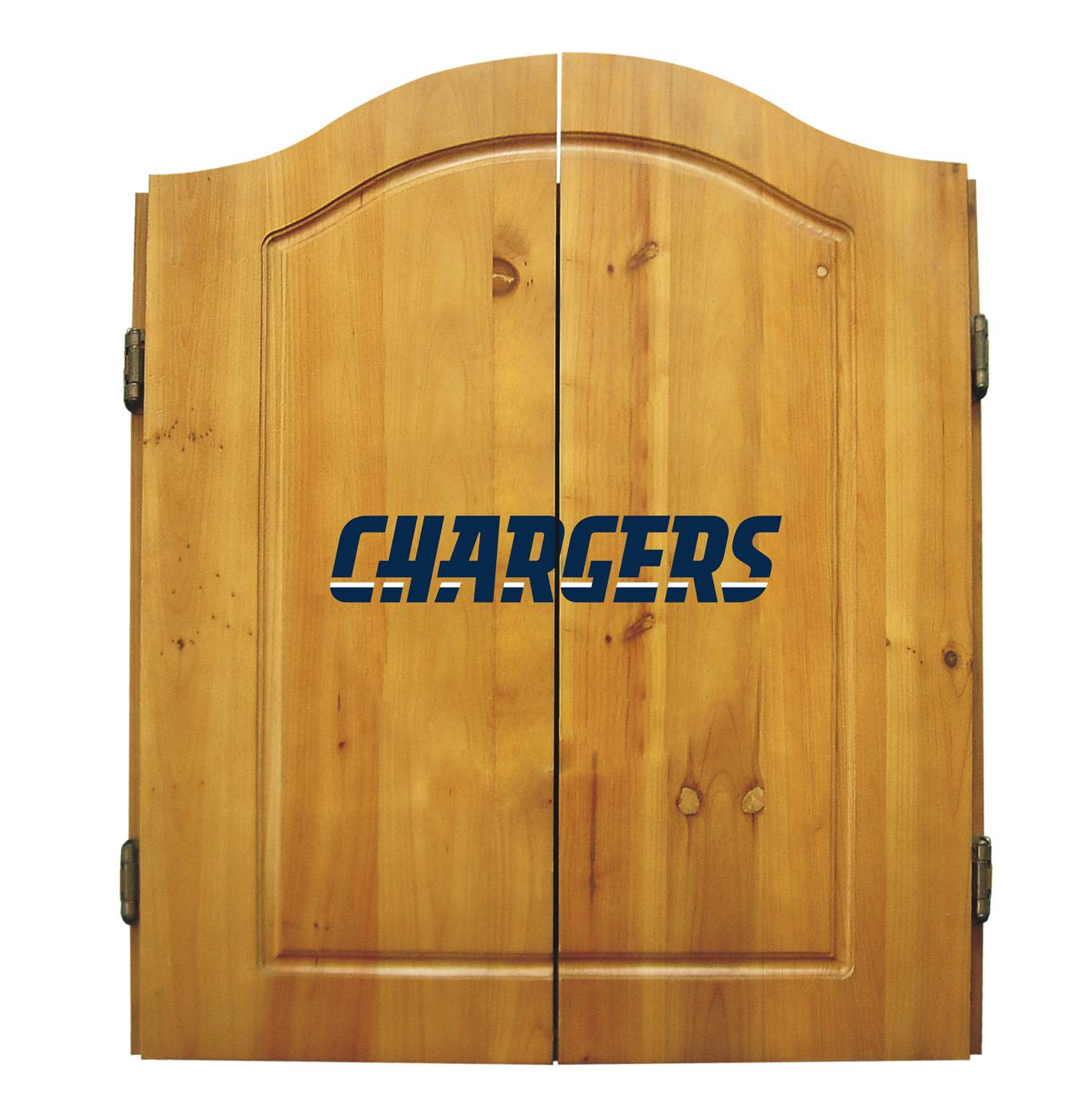 San Diego Chargers Nfl Complete Dart Board Cabinet Set W