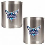 Charlotte Bobcats NBA Stainless Steel Can Holder 2-Piece Set