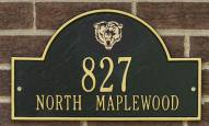 Chicago Bears NFL Personalized Address Plaque - Black Gold