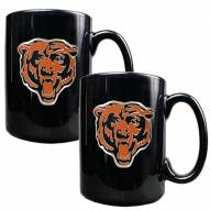 Chicago Bears Black Ceramic Coffee Mug - Set of 2