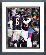 Chicago Bears Brandon Marshall & Jay Cutler 2014 Action Framed Photo